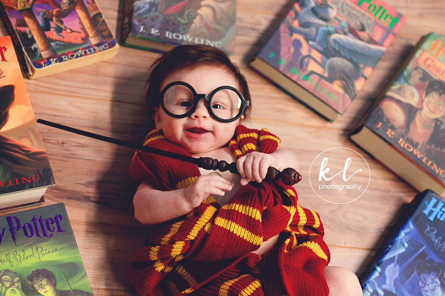 newborn baby harry potter photo shoot kayla glover 3