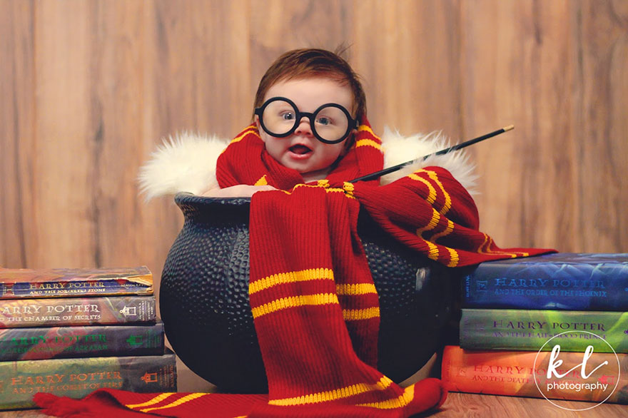 newborn baby harry potter photo shoot kayla glover 4