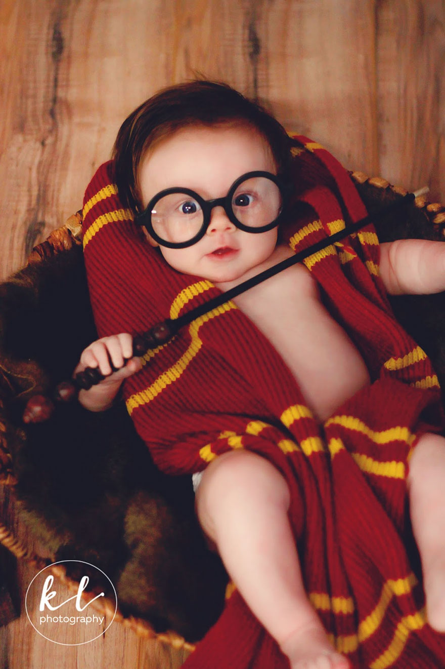 newborn baby harry potter photo shoot kayla glover 5